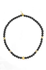 Ожерелье из муранского стекла Arlecchino Lungo Nero черное