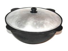 Комплект: печь с дымоходом + казан 12л