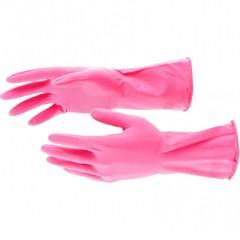 Перчатки хозяйственные, латексные, S Elfe