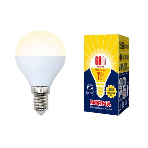 LED-G45-7W/WW/E14/FR/NR Лампа светодиодная. Форма