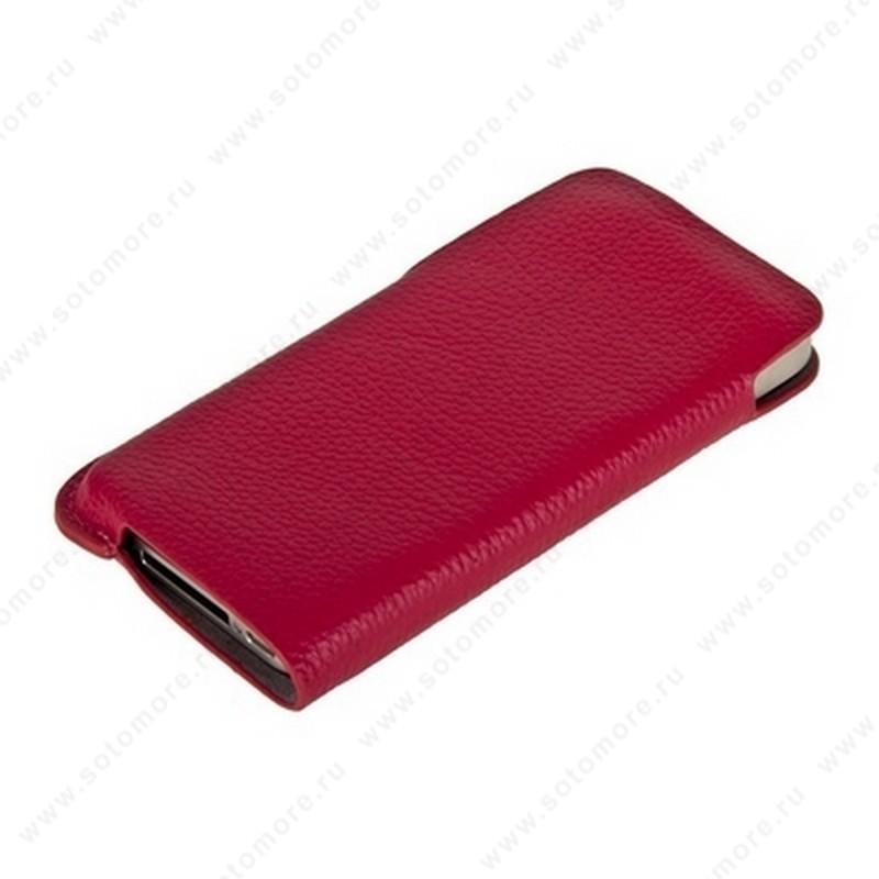 Чехол-пенал кармашек кожаный Fashion для iPhone 4s/ 4 кармашек розовый