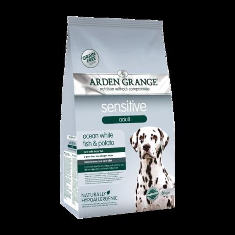 Arden Grange Adult Sensitive Сухой корм для взрослых собак с деликатным желудком или чувствительной кожей Океаническая белая рыба и картофель