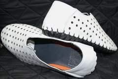 Кожаные летние туфли мужские Luciano Bellini 107704 White.