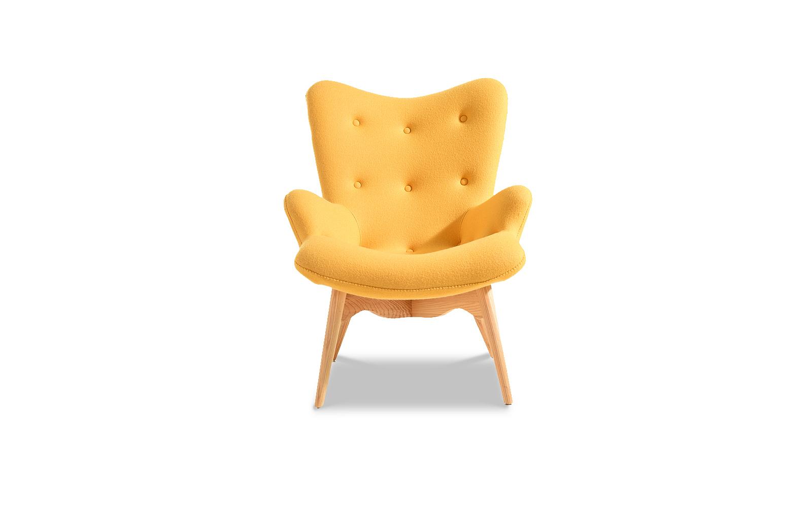 Кресло DC917 yellow-желтое