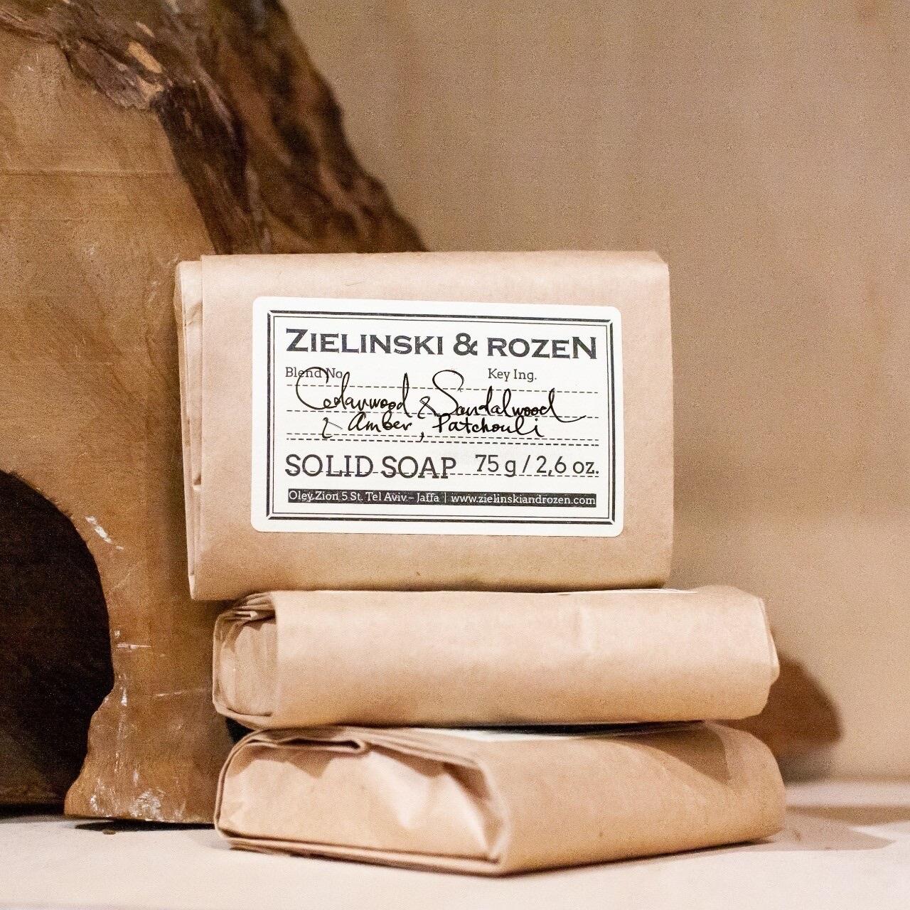 Твёрдое мыло Cedarwood Sandalwood Amber Patchouli ZIELINSKI & ROZEN (75гр)