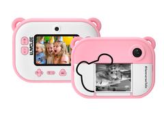моментальный фотоаппарат розовый с печатью фото
