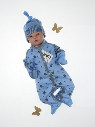 Комбинезон Звездопад + шапочка (голубой)