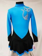 Платье из термоткани с углом с аппликацией из страз (кошечка)