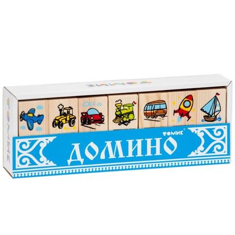 Томик домино Транспорт 28 фишек арт. 5555-2