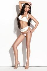 Лаковый роскошный комплект Arielle белый