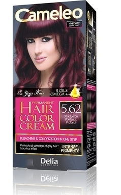 CAMELEO Kрем краска для волос тон 5.62 темный бордовый (Delia cosmetics)