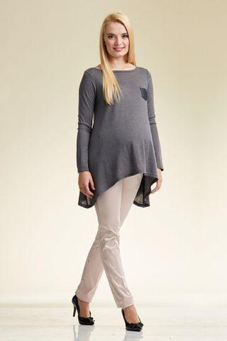 Туника для беременных 00063 серый