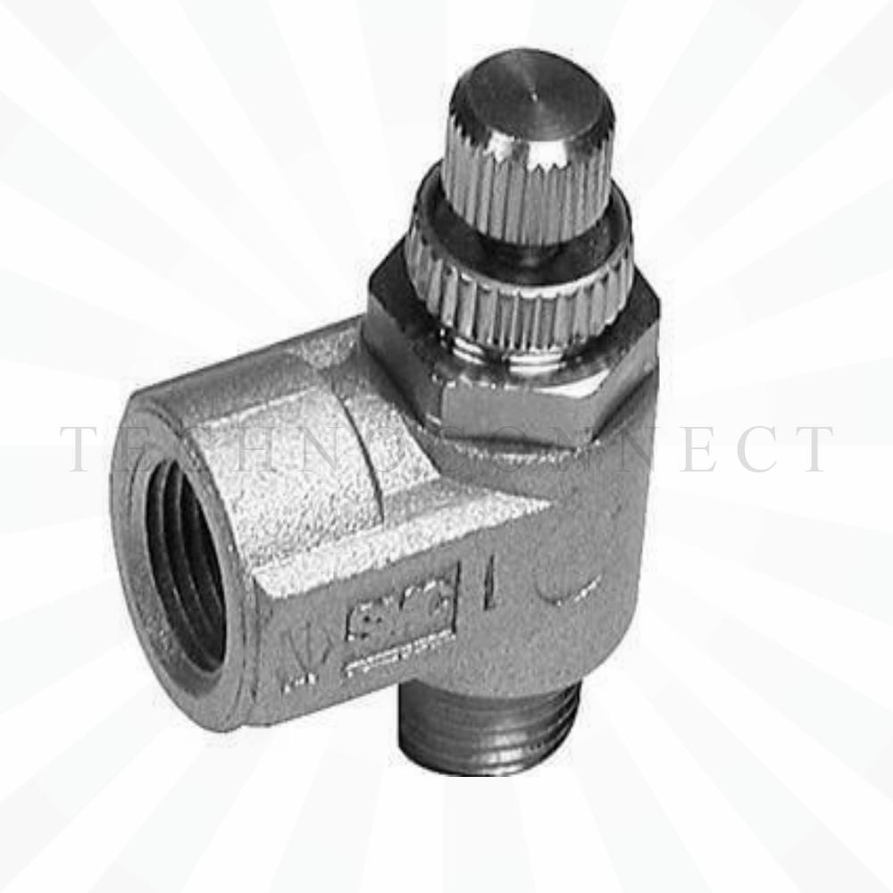 AS1200-M5  Дроссель с обратным клапаном, М5х0.8