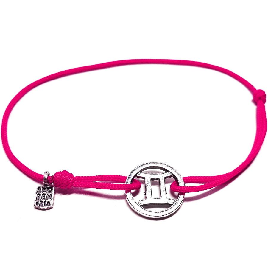 Gemini bracelet, sterling silver