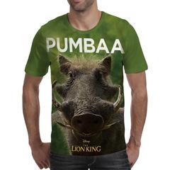 Футболка 3D принт, Король Лев (3Д The Lion King) Пумба / Pumbaa