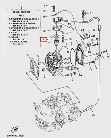 Термостат для лодочного мотора F5 Sea-PRO(2-11)
