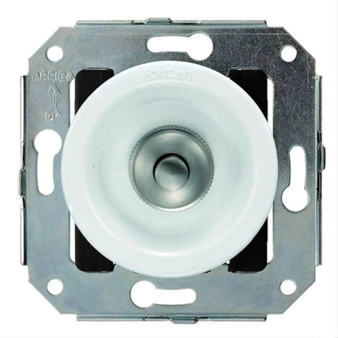 Выключатель/кнопка нажимной 10А 250В~. Цвет Nickel/Brown. Fontini Venezia(Фонтини Венезия). 35310522