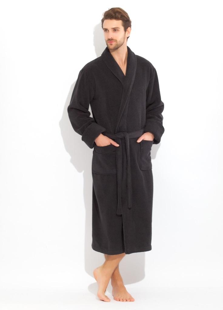 Махровые мужские халаты Brutal 920 Черный  махровый  мужской халат   Россия 920dark.jpg