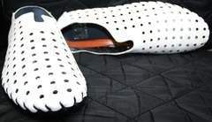 Мокасины на лето мужские Luciano Bellini 107704 White.
