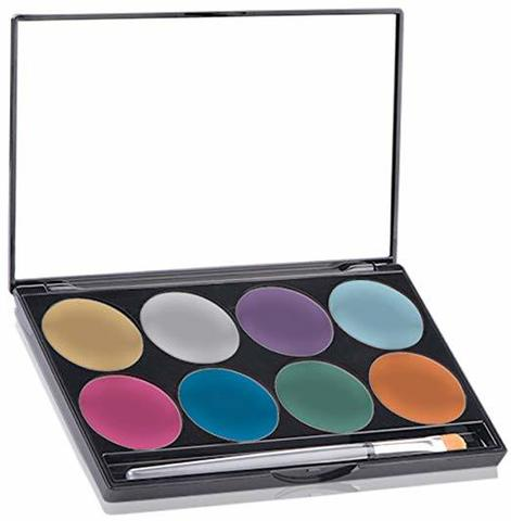 MEHRON Палитра сияющего аквагрима Makeup Paradise AQ Face & Body Paint 8 Color Palette - Brilliant, 8 цветов по 7 г