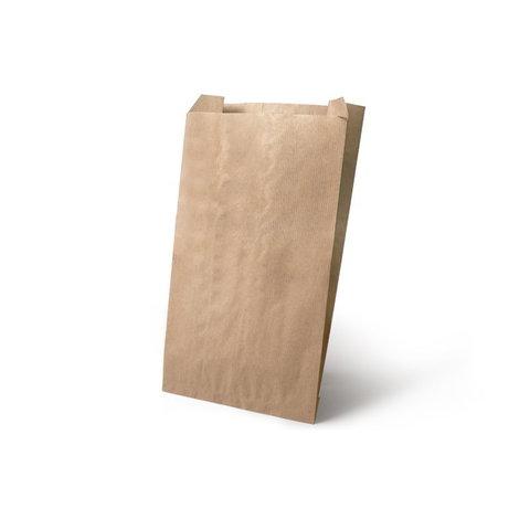 Бумажный пакет с плоским дном, 170*90*250 мм, крафт