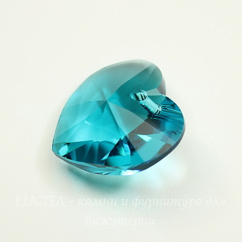 6228 Подвеска Сваровски Сердечко Blue Zircon (18х17,5 мм)