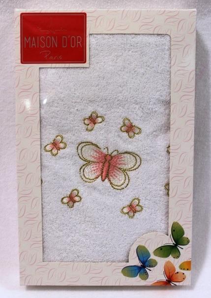 Полотенца BUTTERFLY  БАТЕРФЛЯЙ полотенце махровое в коробке Maison Dor Турция BATTERFLY.JPG