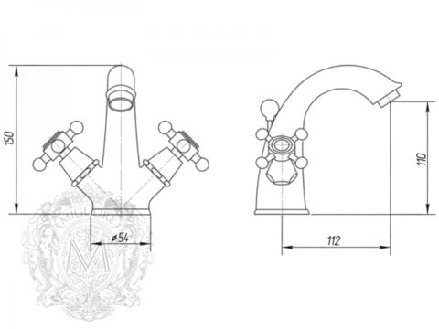 Смеситель для раковины Migliore Lady ML.LAD-934 схема
