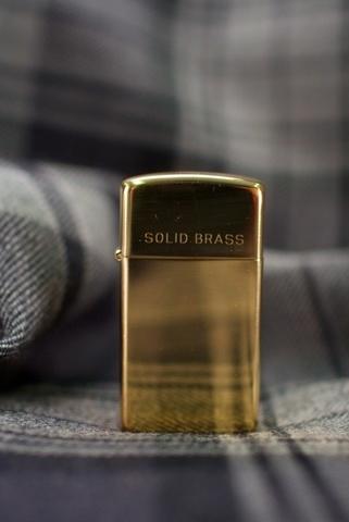 Зажигалка ZIPPO 1654 Slim High Polish Brass золотая