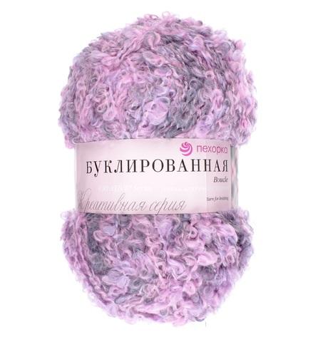 Пехорка Буклированная сирень-розовый-серый 1096 М