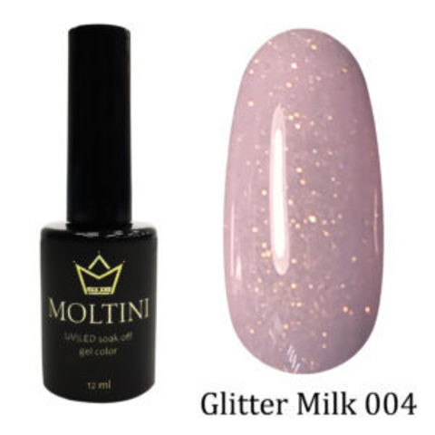 Гель-лак Moltini GLITTER MILK 004, 12 ml
