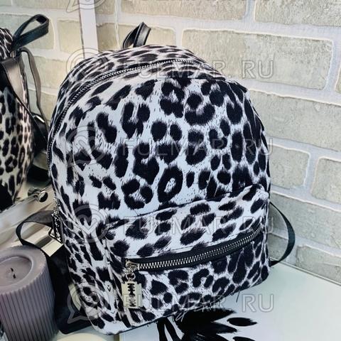 Рюкзак леопардовый тренд 2019 (цвет: белый)