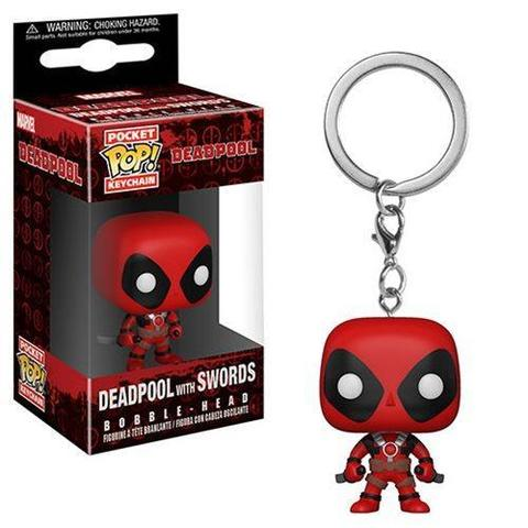 Брелок Дэдпул с мечами || POP! Keychain Deadpool with swards