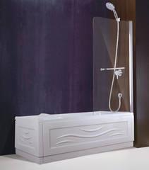 Стеклянная шторка на ванну Esbano-1480 80 см