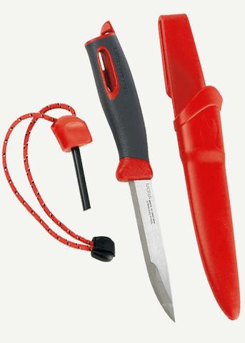 Нож FireKnife с огнивом, красный