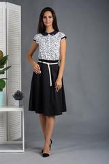 Вита. Классическая блуза с круглым воротником. Белые мишки