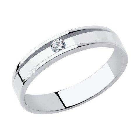 1112299-01 - Кольцо из белого золота с бриллиантом