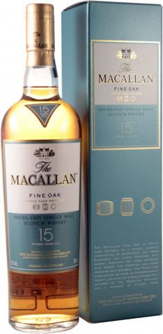 Виски Макаллан 15 лет Трипл Каск М 0,7л П/У