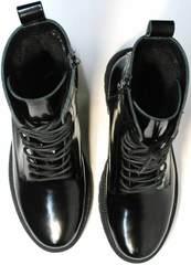 Ботинки наподобие мартинсов черные женские зимние Ari Andano 740 All Black.