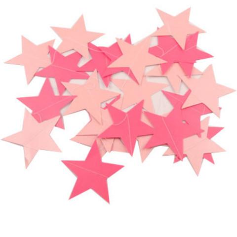 Гирлянда-подвеска Звезды Розовые