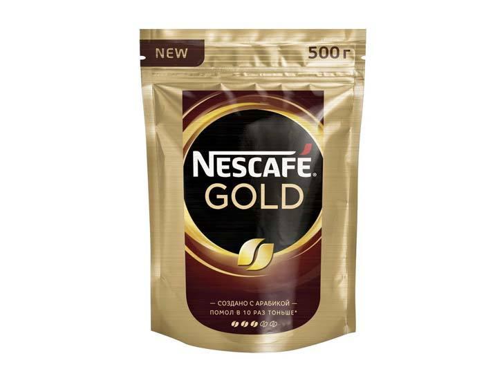 купить кофе растворимый Nescafe Gold, 500 г пакет