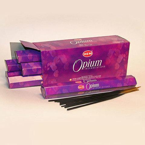 Благовония HEM Hexa OPIUM  аромапалочки Опиум, 20 г (20 ароматических палочек)
