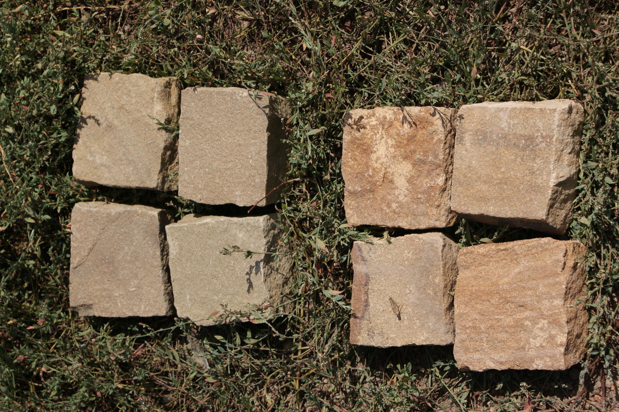 Брусчатка песчаник колотый Серый образец