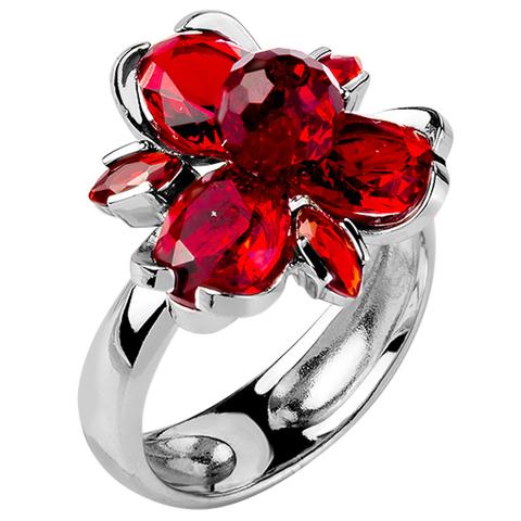 Кольцо из серебра с корунд рубином Арт.1151к-рубин
