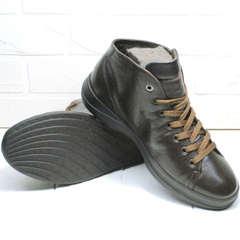 Стильные кеды ботинки демисезонные мужские Ikoc 1770-5 B-Brown.