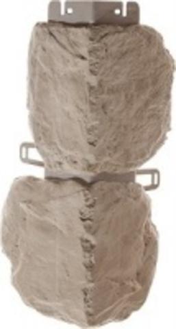 Наружный угол Альта профиль Бутовый камень Нормандский 440х180 мм