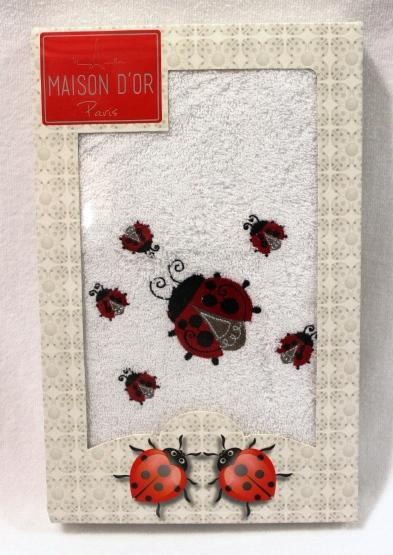 Полотенца LADYBUG  ЛЕДИБАГ полотенце махровое в коробке Maison Dor Турция LADYBUG.JPG