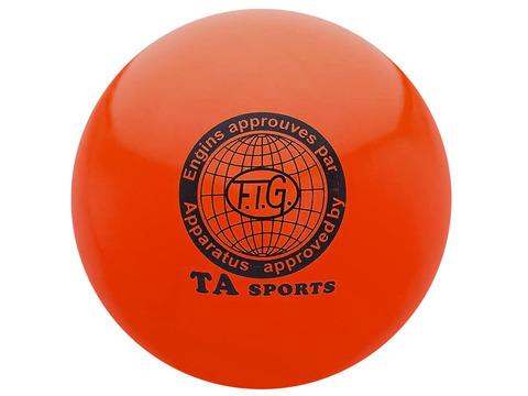 Мяч для художественной гимнастики. Диаметр 15 см. Цвет красный. :(Т11):