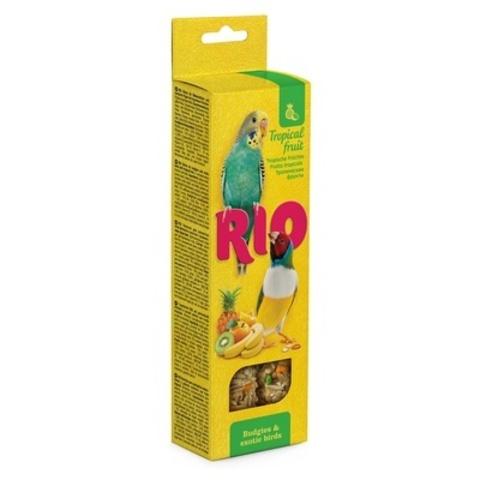 RIO палочки для волнистых попугайчиков и экзотов с тропическими фруктами 2х40г