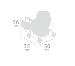 DeCuevas Коляска для куклы с рюкзаком серии Мария, 56см (86034)